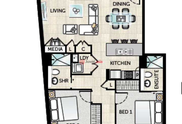 90平米房型设计图