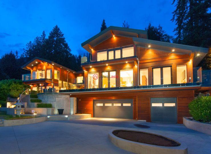 加拿大不列颠哥伦比亚省西温哥华6卧6卫的房产别墅图辋川图片