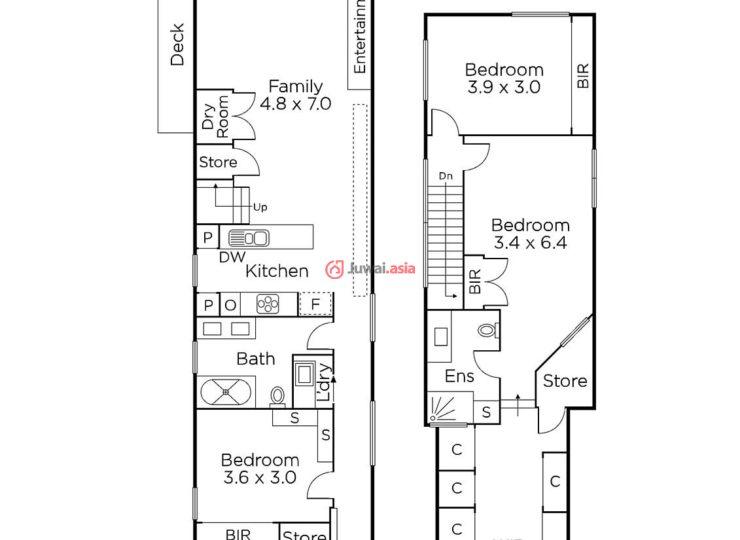 这栋建于19世纪90年代的维多利亚式独栋住宅于三年前刚经过装修,具有宽敞的面积,精心的装饰和无可挑剔的时尚感,距离高街和 Glenferrie 路的购物和餐饮区仅几步之遥。 住宅的前面临街,从门厅到带有隐藏式储存间的书房/第4间卧室,以及使用了石材的时尚厨房和充满自然光线的宽敞起居和就餐区,这些房间都铺有宽条橡木地板。通过双折门可以进入一个西北朝向的私人庭院,这里有带顶的娱乐露台和街边停车位。楼下有一间带嵌入式衣橱和大理石浴室的漂亮卧室,楼上是带有大型步入式衣帽间/更衣室和时尚浴室的主卧,还有带嵌入式衣